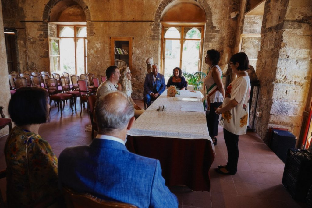 civil wedding ceremony in taormina