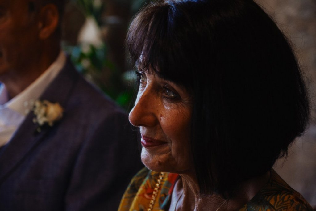 emotion of mom of the groom