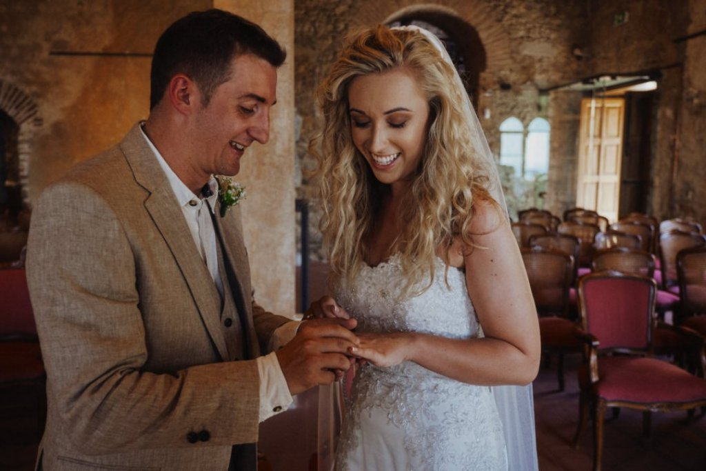 ring exchange in taormina wedding ceremony