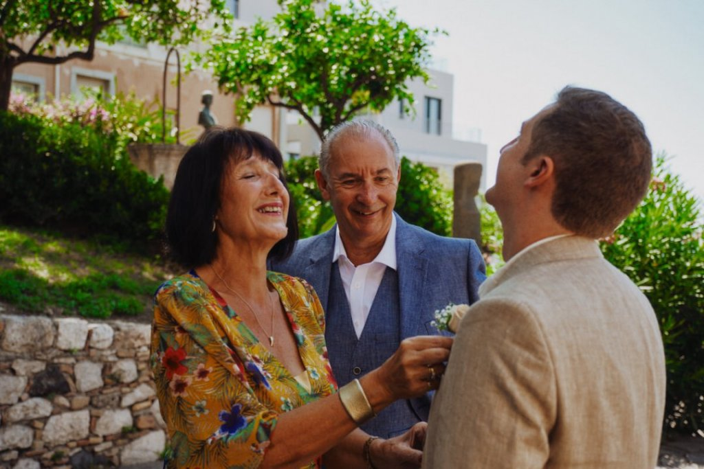 parents of groom at taormina