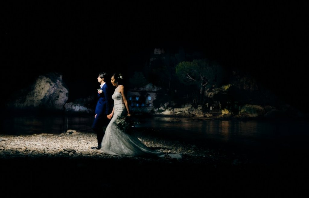 isola bella taormina destination wedding pictures
